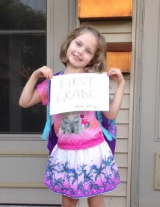 First Day 1st grade 2015